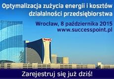 Optymalizacja zużycia energii i kosztów działalności przedsiębiorstwa produkcyjnego do 8.10.15