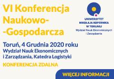 VI Konferencja Naukowo-Gospodarcza Odpowiedzialne łańcuchy dostaw 2020 (do 4 grudnia 2020)