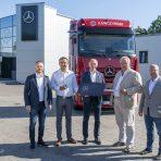 Pierwszy nowy Actros w Polsce dla Kawczyński Logistics