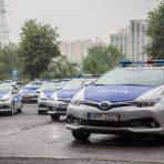 43 hybrydowe Toyoty Auris TS kombi dla policji w Katowicach