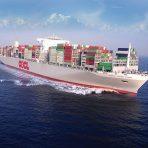 Największy kontenerowiec świata OOCL Hong Kong w Gdańsku